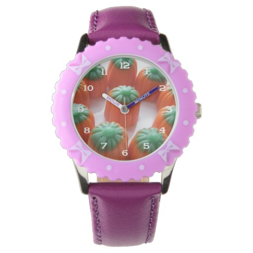 Candy Corn Pumpkin Shaped Wristwatch