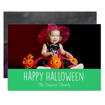 Halloween Themed Candy Corn Pumpkins Happy Halloween Photo Card