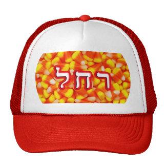 Candy Corn Rachel, Rachelle Trucker Hat