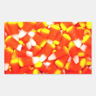 Candy Corn Rectangular Sticker