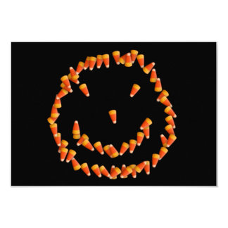 Candy Corn Smiley 3.5x5 Paper Invitation Card