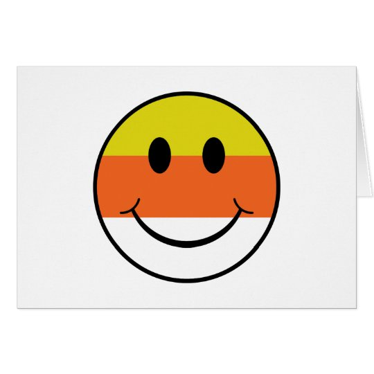Candy Corn Smiley Card