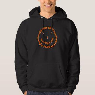 Candy Corn Smiley Hooded Sweatshirt