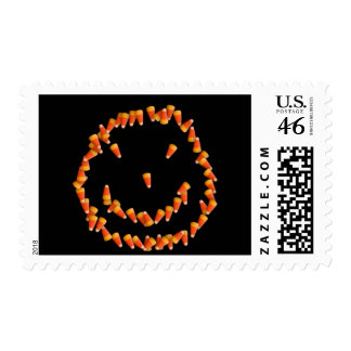 Candy Corn Smiley Postage Stamps