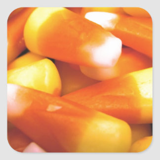 Candy Corn Square Sticker