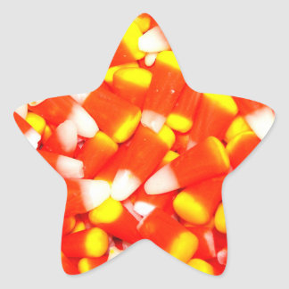 Candy Corn Star Sticker