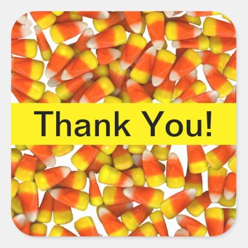 Candy Corn - Thank You Sticker | Zazzle