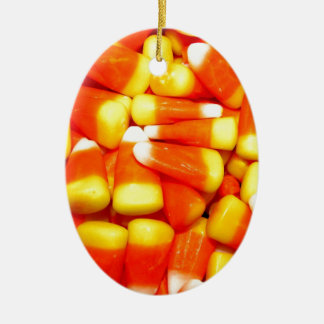 Candy corn treats ceramic ornament