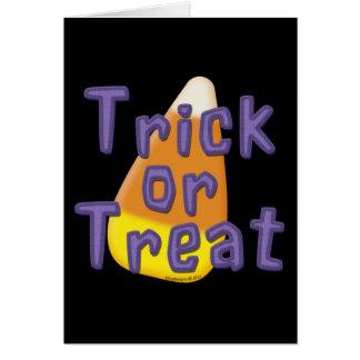Candy Corn Trick or Treat Halloween Card