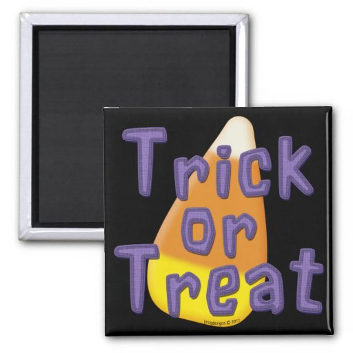 Candy Corn Trick or Treat Halloween Fridge Magnet