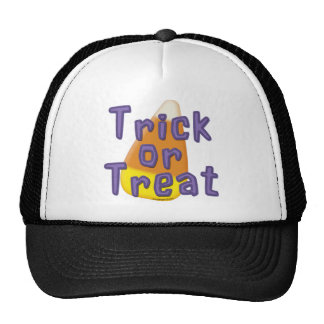 Candy Corn Trick or Treat Halloween Trucker Hat