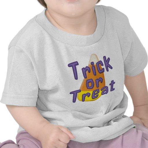 Candy Corn Trick or Treat Halloween Tshirts