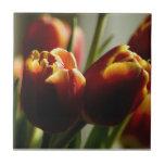 Candy Corn Tulips Ceramic Tile