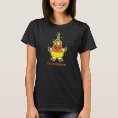 Candy Corn Unicorn T-shirt at Zazzle