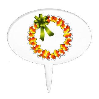 Candy Corn Wreath Cake Topper