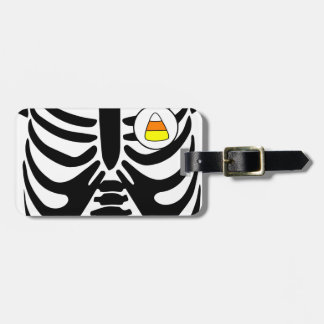 candy corn xray luggage tag