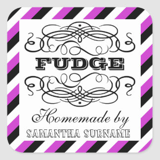Candy corner homemade sweet purple square sticker