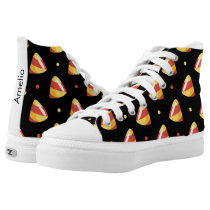 candy corns halloween candy pattern High-Top sneakers