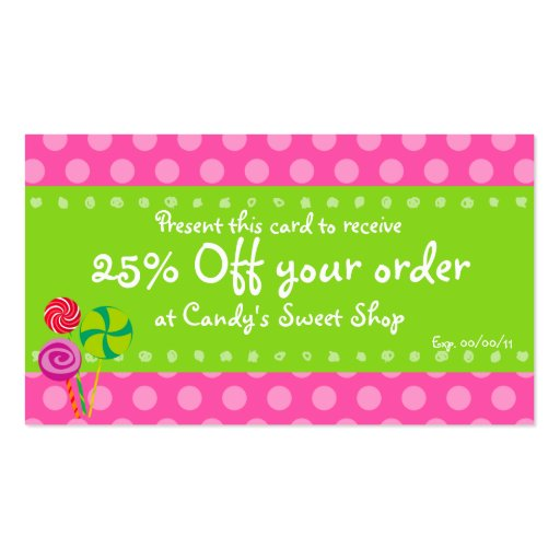 Candy Coupon Card Business Card