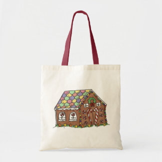 Candy-Covered Gingerbread House Christmas Xmas Bag
