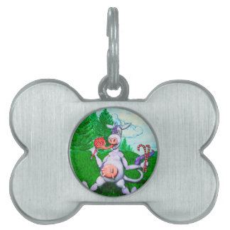 Candy Cow Pet ID Tag