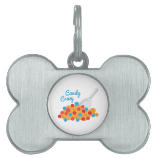 Candy Crazy Pet Name Tags