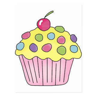 Candy Cupcakes Postcard