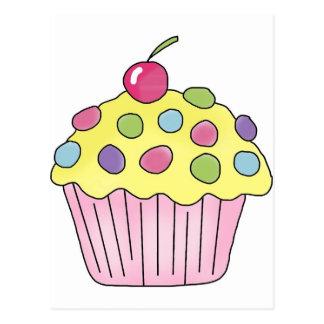 Candy Cupcakes Postcard