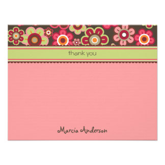 Candy Daisies Bloom Baby / Kids Thank You Card Custom Invitations