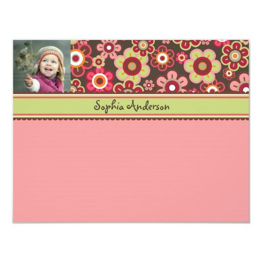 Candy Daisies Bloom Kids Thank You Card