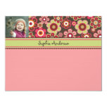 Candy Daisies Bloom Kids Thank You Card Invite