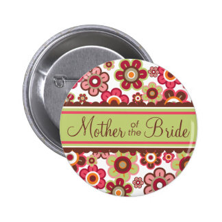 Candy Daisies Mother Of The Bride Wedding Button