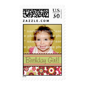 Candy Daisies Pattern Birthday Custom Stamps