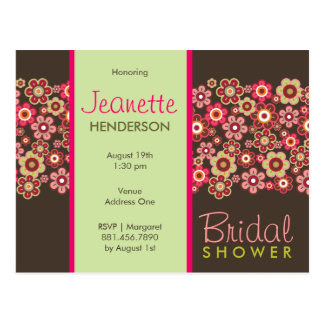 Candy Daisies Pattern Bridal Shower Postcard