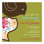 "Candy Damask Chicks Baby Shower Party Invitation 5.25"" Square Invitation Card"