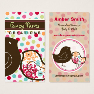 Candy Damask Chicks Color Dots Custom Profile Card