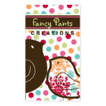 Candy Damask Chicks Color Dots Custom Profile Card Double-Sided Standard Business Cards (Pack Of 100)