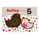 "Candy Damask Chicks Girl Birthday Party Invitation 5"" X 7"" Invitation Card"