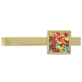 Candy Delight Gold Finish Tie Clip