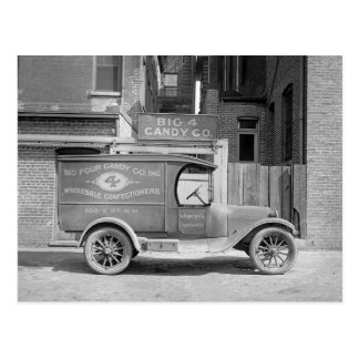Candy Delivery Truck, 1926 Postcard