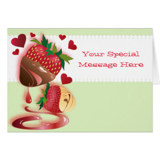 Candy Dipped Strawberries Card