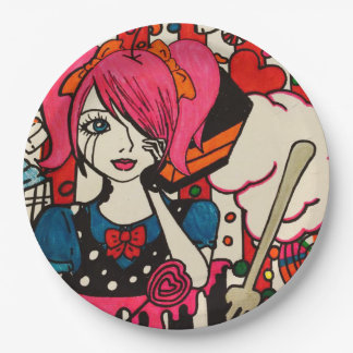 Candy Doll Paper Plates