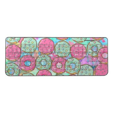 colourarts Candy Donut cookie Sprinkles Wireless Keyboard