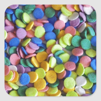 Candy Dots 2 Square Sticker