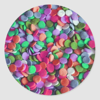 Candy Dots 3 Classic Round Sticker