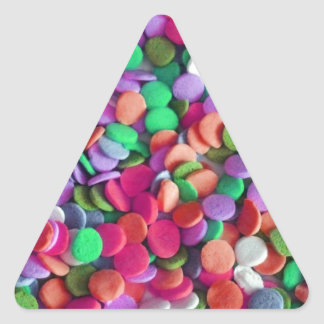 Candy Dots 3 Triangle Sticker
