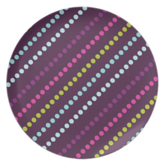 Candy Dots in Berry Dark Plate