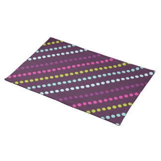 Candy Dots in Berry Placemat Cloth Placemat