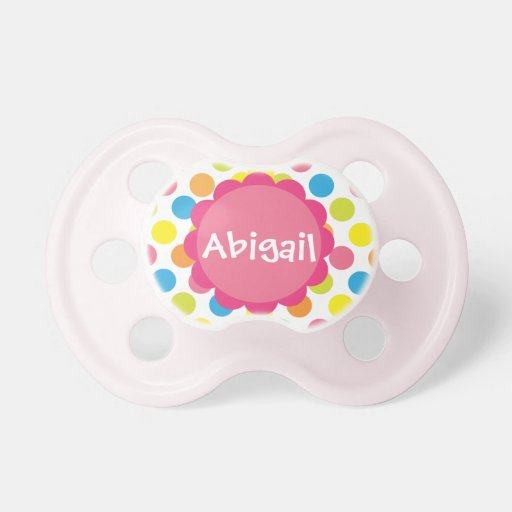 Candy Dots Personalized Pacifier Booginhead Pacifier