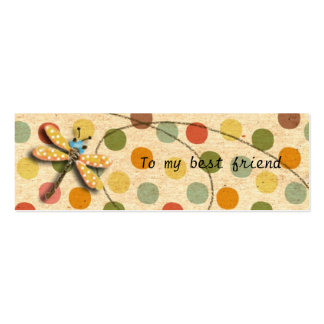 Candy Dragonfly Bookmark Business Card Templates